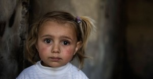 Syrian girl, not quite 3 years old.